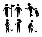 Golfsportdesign Arkivbild