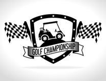 Golfsportdesign Fotografering för Bildbyråer