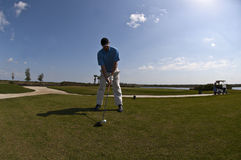 golfswing Royaltyfri Fotografi