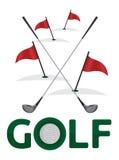Golfsymbol stock illustrationer