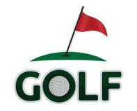 Golfsymbol vektor illustrationer