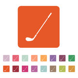 Golfsymbolen modigt model symbol för överdängare 3d plant stock illustrationer