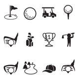 Golfsymbolsuppsättning Arkivfoton
