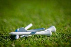 Golft-stukken Royalty-vrije Stock Fotografie