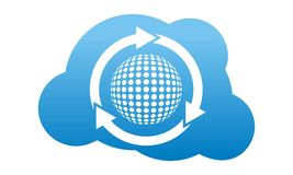 Golftechnologie Logo Design Template stock illustratie