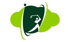 Golftechnologie Logo Design Template vector illustratie
