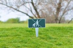 golftecken Royaltyfria Foton