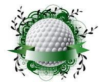 Golfthemafahne Stock Abbildung