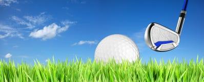 Golfthemahintergrund Lizenzfreie Stockfotografie