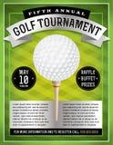 Golfturneringreklamblad Arkivbild