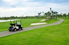 Golfvagn Fotografering för Bildbyråer