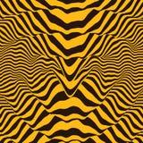 Golfvormachtergrond Dynamisch visueel effect Oppervlaktevervorming Patroon met optische illusie Vector gestreepte illustratie Gel vector illustratie