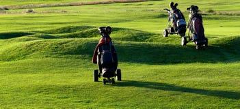 Golfwagen stockbild