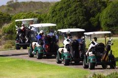 Golfwagen Stockfoto