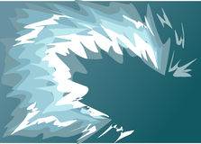 Golfwater een tsunami Stock Foto's