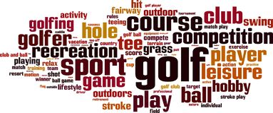 Golfwortwolke vektor abbildung