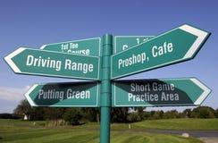 Golfzeichen Lizenzfreie Stockfotos