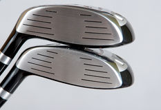 Golg clubs. Golf clubs on white background Royalty Free Stock Photo
