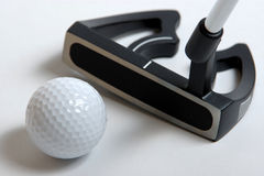 Golg clubs. Golf clubs on white background Royalty Free Stock Photography