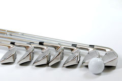 Golg clubs. Golf clubs on white background Stock Photo