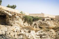 Golghota conosciuto come la tomba del giardino, Gerusalemme, Israele fotografie stock