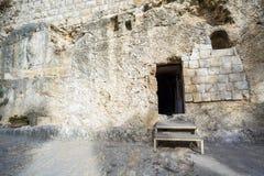 Golghota conosciuto come la tomba del giardino, Gerusalemme, Israele immagine stock libera da diritti