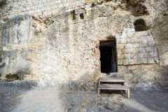 Golghota known as Garden Tomb, Jerusalem, Israel. Middle East royalty free stock image