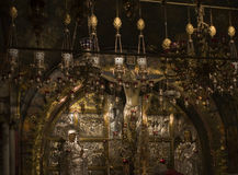Golgotha,Church of the Holy Sepulchre royalty free stock photos