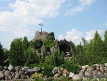 """Golgotha van de Basiliek van LicheÅ """", Polen Stock Fotografie"""