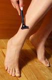 golić nóg Zdjęcie Stock