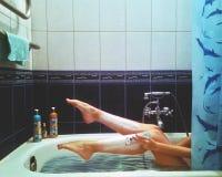 golić nóg Zdjęcie Royalty Free