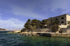 Goli Otok Kroatien lizenzfreie stockfotos