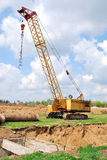 Goliath crane. The goliath crane on a building site Stock Photos