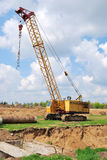 Goliath crane. The goliath crane on a building site Stock Images