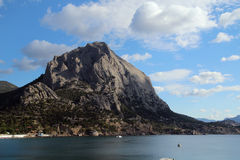 Golithsyn Path and the mountain Sokol, Crimea Stock Photos