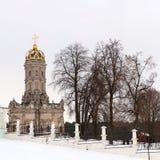 Golitsyn rodzinna rezydencja ziemska i kościół znak w Dubrovitsy Zdjęcia Royalty Free