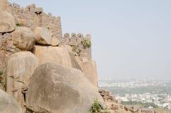 Golkonda堡垒,海得拉巴 库存照片