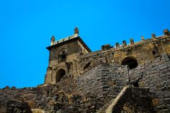 A View from Dharbar Hall Golconda Fort Hyderabad stock photo
