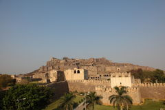 Golkonda Fort, Hyderabad. General view of Golconda Fort, Hyderabad, Andhra Pradesh, India Royalty Free Stock Photos