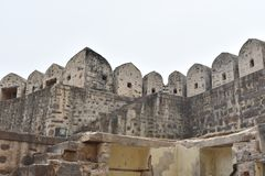GolKonda-Fort Hyderabad lizenzfreie stockfotografie