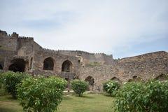 GolKonda Haidarabad forte fotografia stock