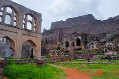 Golkonda ruins Royalty Free Stock Photos
