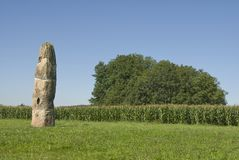 Gollenstein Menhir Stock Photography