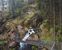 Golling瀑布Golling秋天,萨尔茨堡,奥地利 库存照片