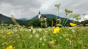 Golling en dersalzbachkirche Fotografering för Bildbyråer