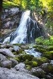 Gollinger瀑布在奥地利 库存图片