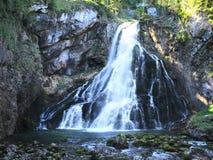 Gollinger瀑布在奥地利 图库摄影