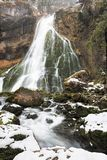 Gollinger Waterfalls at wintertime, Austria Royalty Free Stock Images