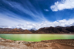 Golmud in Qinghai Jade Pool Station scenery Royalty Free Stock Image