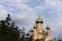 Goloseevo kloster i Kiev Royaltyfri Foto